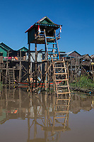 Tonle Sap Stilt House - this body of water is both a lake and river system of huge importance to Cambodia. The area is home to many ethnic Vietnamese communities living in floating villages around the lake. The Tonle Sap is the largest freshwater lake in Southeast Asia and is an ecological hotspot that was designated as a UNESCO biosphere in 1997. The Tonle Sap is a branch of the mighty Mekong River.