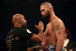 Tony Bellew (right) with trainer Dave Coldwell before his WBC, WBA, IBF, WBO & Ring Magazine Cruiserweight World Championship challenge against Oleksandr Usyk at Manchester Arena.