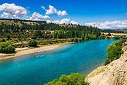 River view from the Upper Clutha River Track, Central Otago, South Island, New Zealand