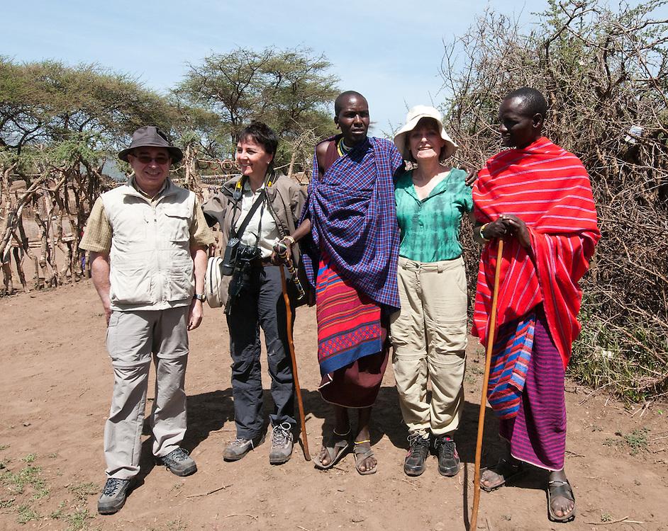 In the Maasai village