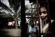 Christian refugee girls at YMCA relief comittee in Orissa's capital Bhubaneswar. Nov. 04, 2008..