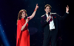 Prime Minister Justin Trudeau and wife Sophie Gregoire Trudeau perform during the evening ceremonies of Canada's 150th anniversary of Confederation, in Ottawa on Saturday, July 1, 2017. Photo by Sean Kilpatrick/CP/ABACAPRESS.COM