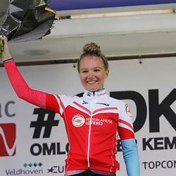 Velhoven (NED) July 03: CYCLING: Omloop der Kempen Ladies: Maike van der Duin wins ahead of Marjolijn van het Geloof en Lieke Nooijen