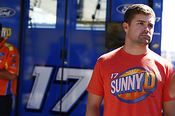 September 14, 2018 - Las Vegas, Nevada, United States of America - Ricky Stenhouse, Jr (17) hangs out in the garage during practice for the South Point 400 at Las Vegas Motor Speedway in Las Vegas, Nevada. (Credit Image: © Chris Owens Asp Inc/ASP via ZUMA Wire)
