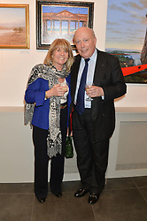 LORD FELLOWES and INGRID SEWARD at a private view of work by artist Philip Bouchard at 508 Gallery, 508 King's Road, London on 3rd April 2014.