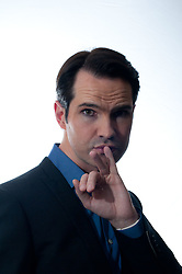 © Copyright licensed to London News Pictures. 18/10/2010. Jimmy Carr, comedian, backstage at the Royal Albert Hall. Musicians and composers from the world of film gather for Concert for Care, Royal Albert Hall, London.