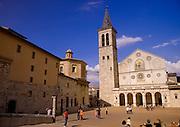 An church in an Italian city square