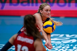 Allysa Batenhorst of USA in action during United States - Netherlands, FIVB U20 Women's World Championship on July 15, 2021 in Rotterdam