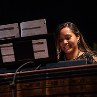 Kiana Boyd plays a piano piecce for her contemporary talent at the Gallup Inter-Tribal Ceremonial Queen competition at the El Morro Theatre, Thursday, August 9, 2018.