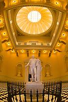 Statue of George Washington in the Rotunda of the Virginia State Capitol, Richmond, Virginia USA