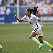 Christen Press, U.S. Women's National Team in action during the U.S. Women's National Team Vs Korean Republic, International Soccer Friendly in preparation for the FIFA Women's World Cup Canada 2015. Red Bull Arena, Harrison, New Jersey. USA. 30th May 2015. Photo Tim Clayton