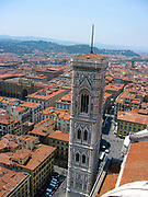 Campanile and Filippo Brunelleschi's dome at the Cathedral of Santa Maria del Fiore, Florence, Italy