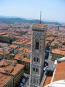 Campanile and Filippo Brunelleschi's dome at the Cathedral of Santa Maria del Fiore, Florence, Italy