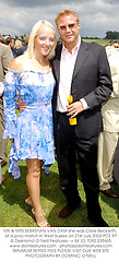 MR & MRS SEBASTIAN VAN DAM she was Clare Beckwith, at a polo match in West Sussex on 21st July 2002.	PCE 97