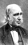 Amos Bronson Alcott  (1799-1888) American teacher and trancendentalist. Father of Louisa May Alcott. Wood engraving, 1875