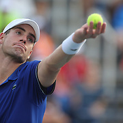 John Isner, USA, in action against Philipp Kohlschreiber, Germany, during the Men's Singles competition at the US Open. Flushing, New York, USA. 31st August 2013. Photo Tim Clayton