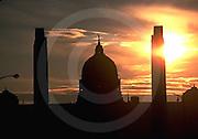 PA Capitol, Harrisburg, Pennsylvania, Sunset, State Street Bridge