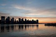 USA, NY, New York City, Manhattan The Hudson River at sunrise