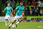 Forest Green Rovers Reuben Reid(26) runs forward during the EFL Sky Bet League 2 match between Forest Green Rovers and Stevenage at the New Lawn, Forest Green, United Kingdom on 21 August 2018.