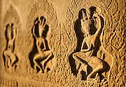 Dancers carvings at Angkor Temples (Cambodia)