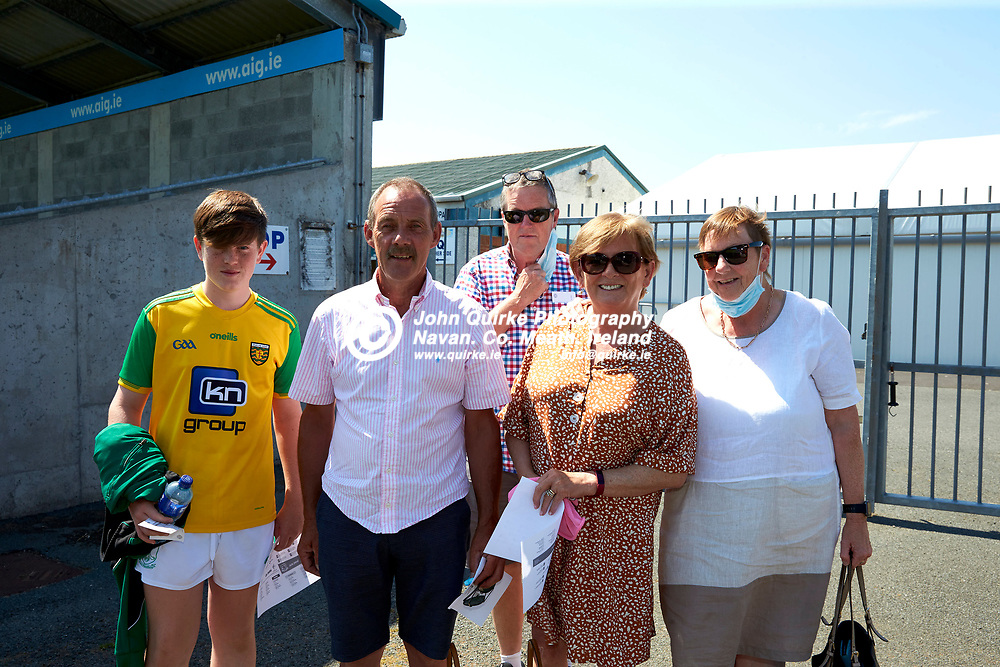 17-07-21, Joe McDonagh Cup Relegation play-off at Parnell Park.<br /> Meath v Kildare<br /> Pictured at the game, L-R, Joey Christie, Eamon & Margaret Regan with David & Bunty Dempsey<br /> Photo: David Mullen / www.quirke.ie ©John Quirke Photography, Proudstown Road Navan. Co. Meath. 046-9079044 / 087-2579454.<br /> ISO: 200; Shutter: 1/250; Aperture: 9;