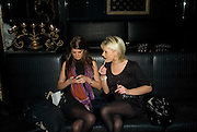 JULIET ROE AND JODIE MILLER. Vanessa Miedler birthday party. Dolce. Air St. London. 310108. *** Local Caption *** -DO NOT ARCHIVE-© Copyright Photograph by Dafydd Jones. 248 Clapham Rd. London SW9 0PZ. Tel 0207 820 0771. www.dafjones.com.