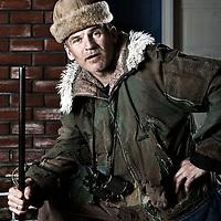 Elfar Logi Hannesson<br /> A poster photo for the play Gaggað í grjótinu.