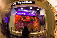 Foreign currency exchange, Suvarnabhumi International Airport, Bangkok, Thailand