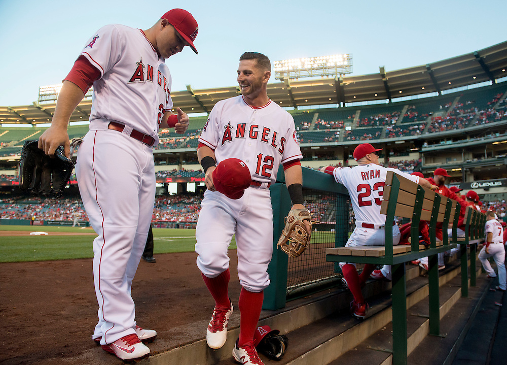 ///ADDITIONAL INFO:   <br /> <br /> angels.0405.kjs  ---  Photo by KEVIN SULLIVAN / Orange County Register  -- 5/12/16<br /> <br /> The Los Angeles Angels take on the St. Louis Cardinals Thursday at Angel Stadium.