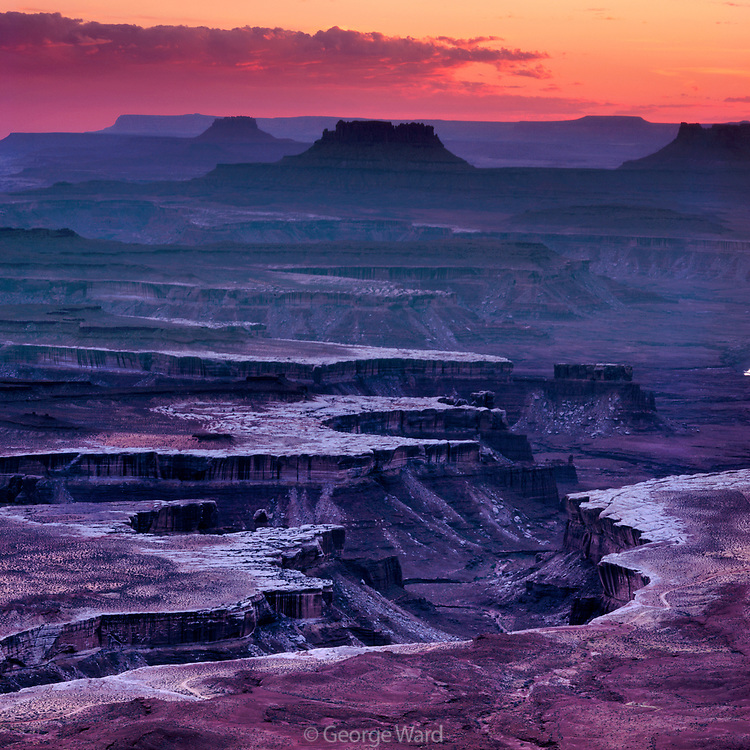 Green River Overlook after Sunset, Island In The Sky, Canyonlands National Park, Utah
