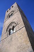 Campanile tower of Duomo church, Erice, Sicily, Italy