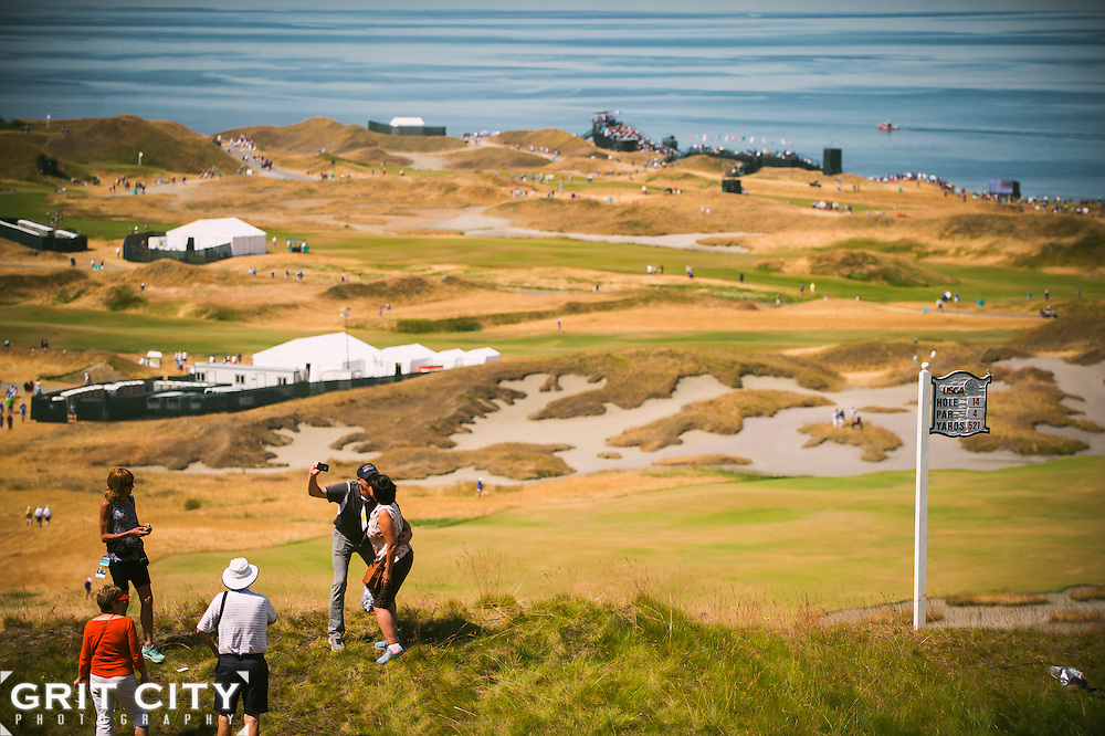 Scenes from the 2015 U.S. Open at Chambers Bay Golf Course.