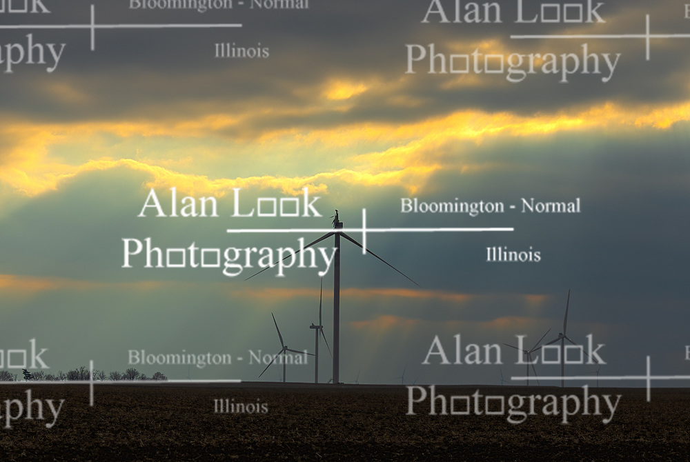 Wind Turbine at a wind farm in central Illinois. This unit has been damaged by an unknown event and is currently out of service pending repair.<br /> <br /> This image has HDR (High Dynamic Range) post processing applied.  The illustration was created from 3 stacked raw images.  The process was applied for aestetic or artful purposes and does not significantly change the content of the scene