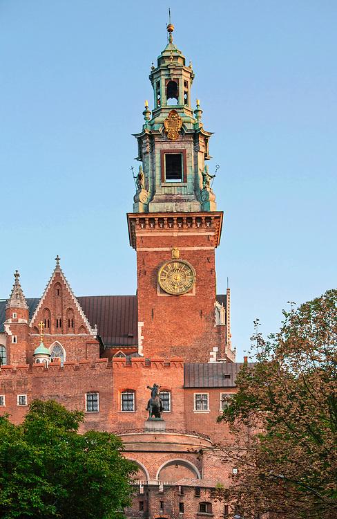 Wieża Zegarowa katedry na Wawelu.<br /> Clock Tower of the Wawel Cathedral.