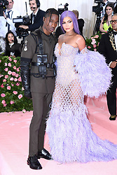 "Kylie Jenner and Travis Scott at the 2019 Costume Institute Benefit Gala celebrating the opening of ""Camp: Notes on Fashion"".<br />