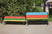 Children's benches, Sculpture Park, also known by the expatriate name Fallen.Monument Park, Moscow, Russia, 2007