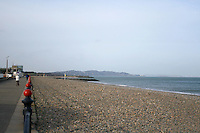 Quiet seafront in the winter at the seaside town of Bray in Wicklow Ireland