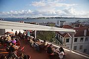 Noobai bar and esplanade at sunset,  near Adamastor lookout.