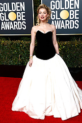 January 6, 2019 - Beverly Hills, Kalifornien, USA - Amber Heard bei der Verleihung der 76. Golden Globe Awards im Beverly Hilton Hotel. Beverly Hills, 06.01.2019 (Credit Image: © Future-Image via ZUMA Press)