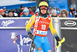 13.11.2016, Black Race Course, Levi, FIN, FIS Weltcup Ski Alpin, Levi, Slalom, Herren, 2. Lauf, im Bild Mattias Hargin (SWE) // Mattias Hargin of Sweden  reacts after his 2nd run of mens Slalom of FIS ski alpine world cup at the Black Race Course in Levi, Finland on 2016/11/13. EXPA Pictures © 2016, PhotoCredit: EXPA/ Nisse Schmidt<br /> <br /> *****ATTENTION - OUT of SWE*****