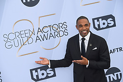 January 27, 2019 - Los Angeles, California, U.S - JASON WINSTON GEORGE during silver carpet arrivals for the 25th Annual Screen Actors Guild Awards, held at The Shrine Expo Hall. (Credit Image: © Kevin Sullivan via ZUMA Wire)