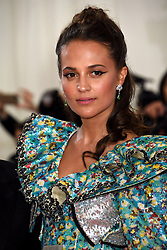 Alicia Vikander attending the Metropolitan Museum of Art Costume Institute Benefit Gala 2019 in New York, USA.