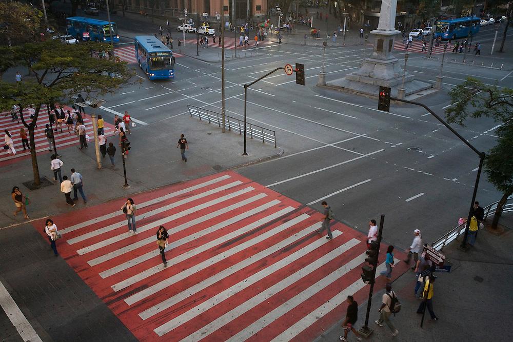 Belo Horizonte_MG, Brasil...Praca Sete e Avenida Afonso Pena em Belo Horizonte...Praca Sete and Afonso Pena avenue in Belo Horizonte...Foto: JOAO MARCOS ROSA / NITRO