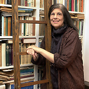 Susan Sontag stands in her study 10/18 in NYC.<br /> js/Jon Simon