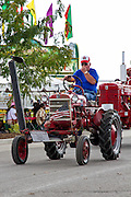 Vintage  International Harvester Tractor (1959 Farmall) at the Indiana State Fair, Indianapolis, Indiana, USA