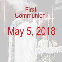 St Catherine 1st Communion 05-05-18
