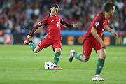 Cristiano Ronaldo of Portugal, during the match against Austria, valid for the European Championship Group F 2016 in the Parc des Princes stadium in Paris on Saturday 18. The game ended 0 to 0.