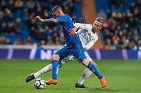 Real Madrid Marcos Llorente Getafe Vitorino Antunes during La Liga match between Real Madrid and Getafe CF  at Santiago Bernabeu Stadium in Madrid , Spain. March 03, 2018. (ALTERPHOTOS/Borja B.Hojas)