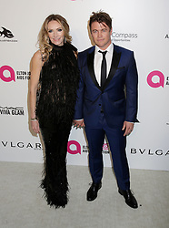 Luke Hemsworth and his wife, Samantha Hemsworth arriving at the Elton John Oscar Party held in Beverly Hills, Los Angeles, USA.
