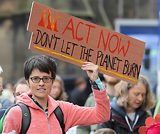 Climate change protest march and rally at Scottish Parliament, Edinburgh, 17 June 2019